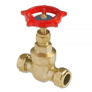 Compression Brass Gate valve 5