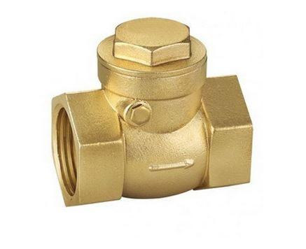 Horizontal brass check valve