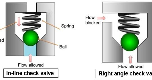 Working of check valve