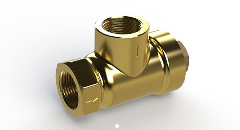 T brass strainer