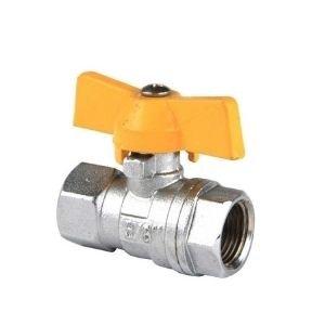 butterfly handle brass valve